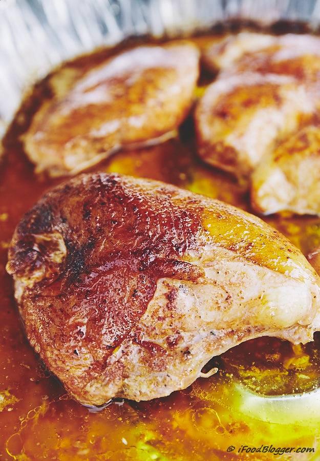 Smoked bone-in chicken breast.