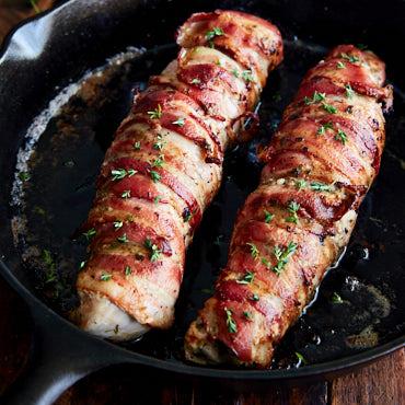 Pan-Seared Bacon-Wrapped Pork Tenderloin Recipe
