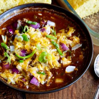 This is the best Texas chili recipe. A must try for all those who appreciate Texas style chili made with a mix of flavorful chili powders.