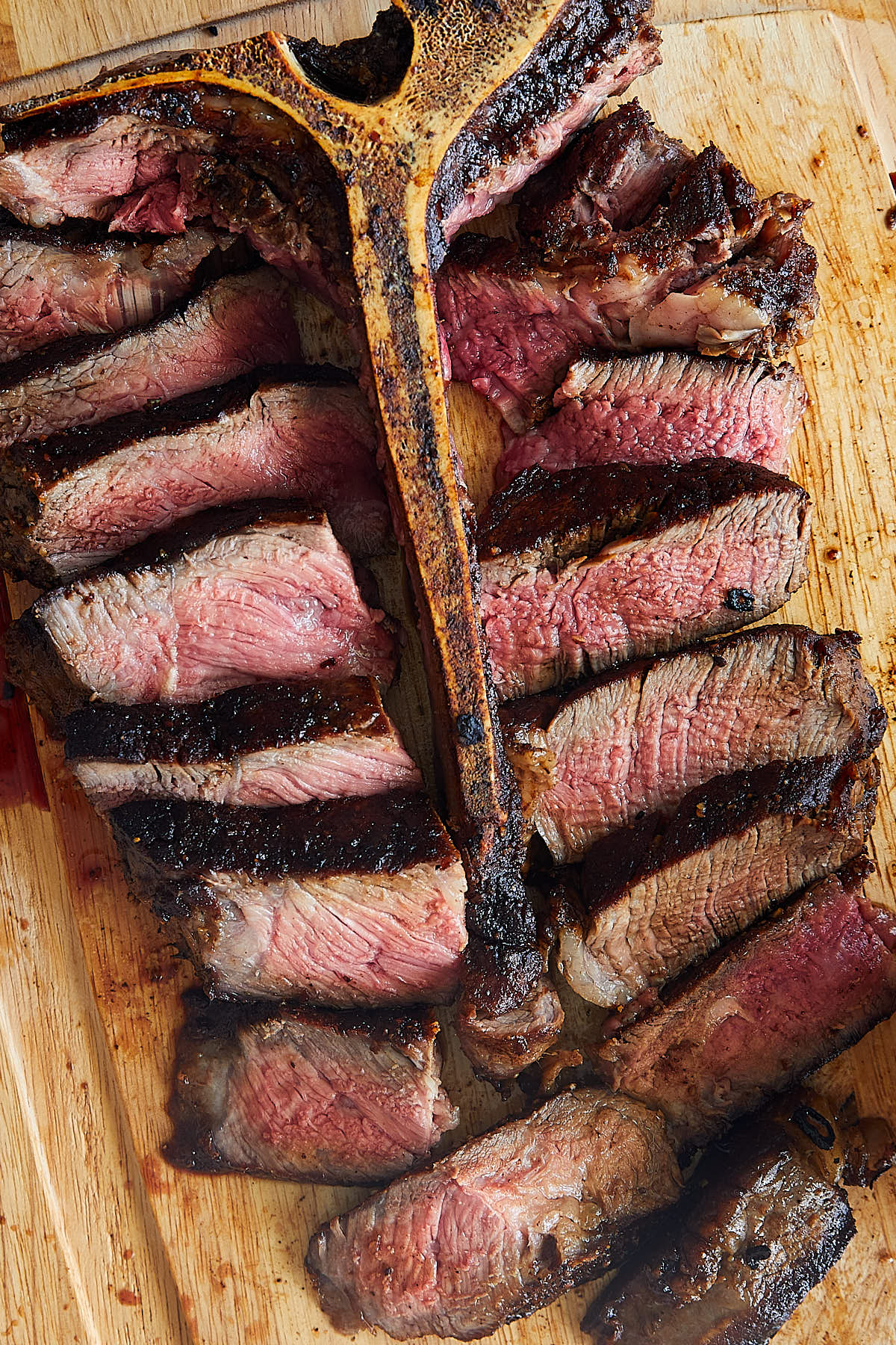 Sliced Porterhouse Steak
