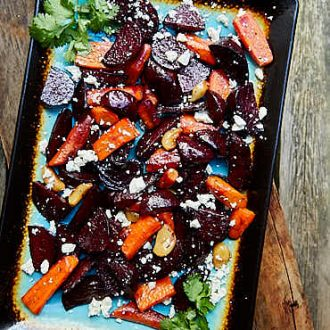 Roasted Beets and Carrots with Feta | ifoodblogger.com