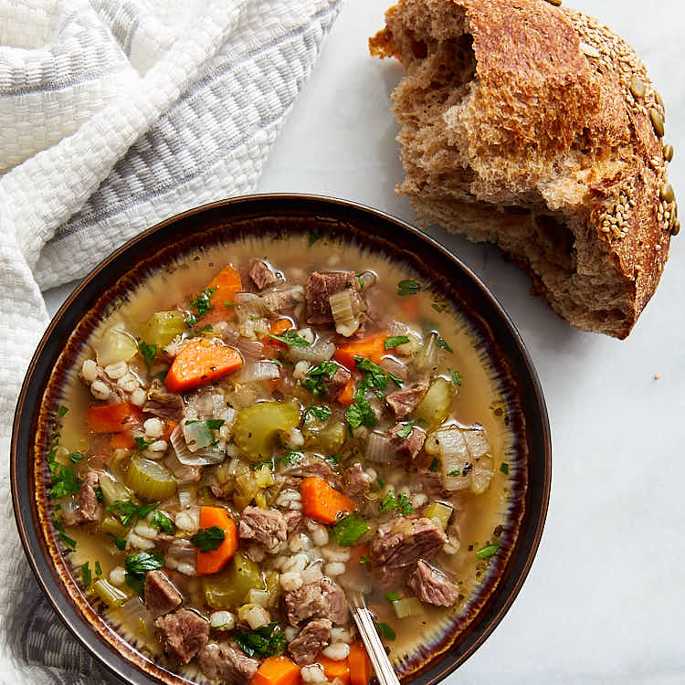 Beef and Vegetable Soup - delicious, comforting and perfect for a cold day. | ifoodblogger.com
