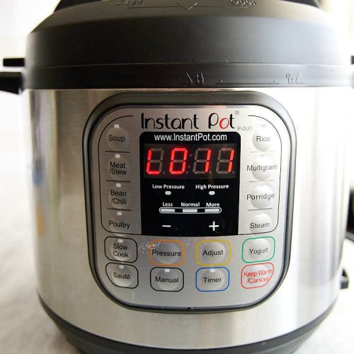 Instant Pot - pressure releasing naturally.