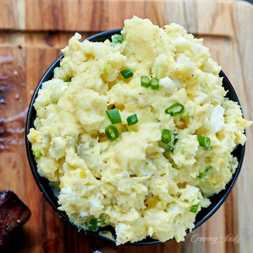 A bowl of southern potato salad.
